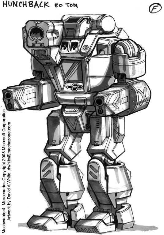 MechWarrior 4 Hunchback by Mecha-Zone