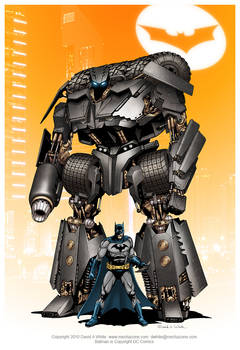 Batman and Batmobile mecha