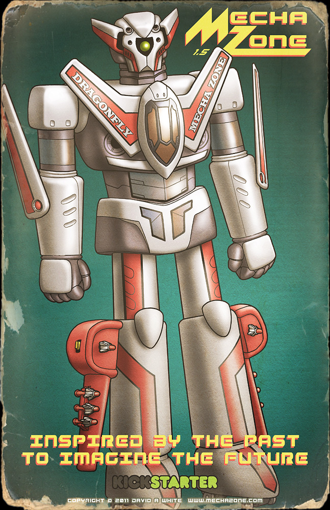 Dragonfly mecha RETRO poster by Mecha-Zone