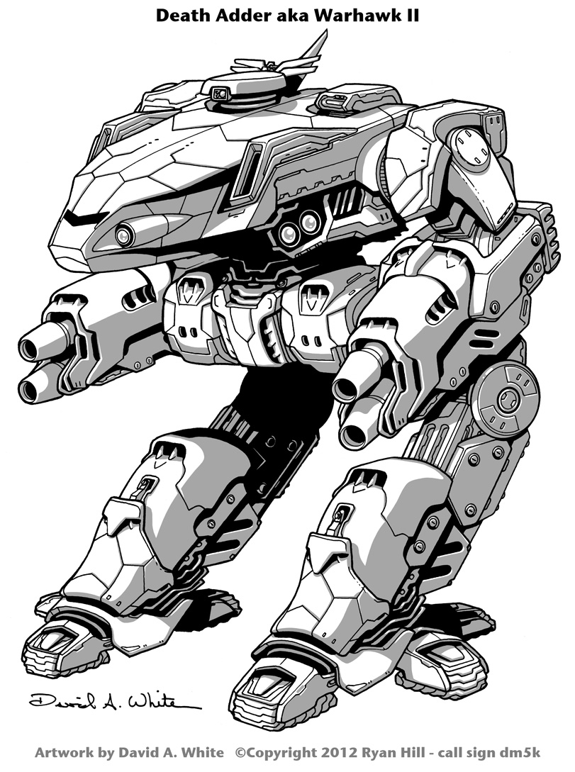 Death Adder Mech (Warhawk II) by Mecha-Zone