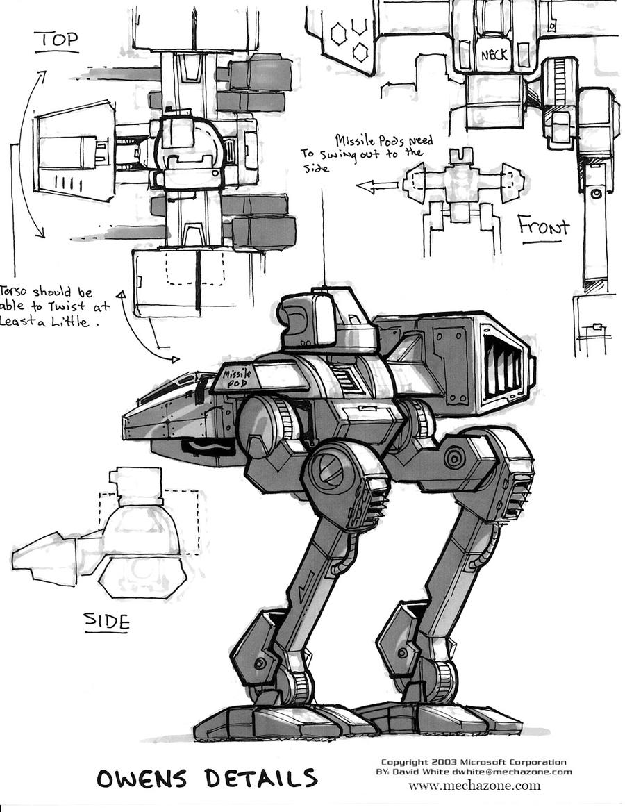 MechWarrior 4 Owens back view by Mecha-Zone