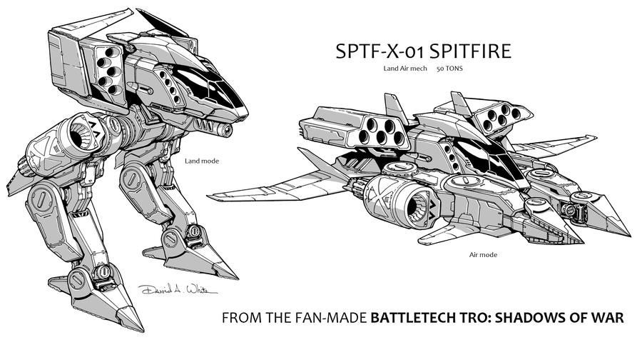 SPTF-X-01 Spitfire Mech by Mecha-Zone