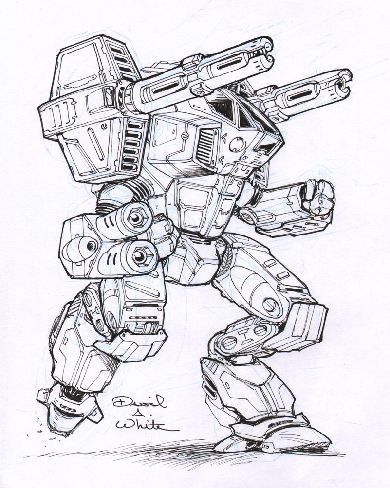 Legacy mech sketch by Mecha-Zone