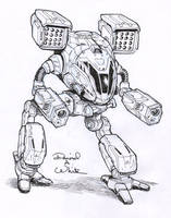 TimberWolf mech sketch by Mecha-Zone