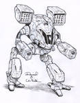 TimberWolf mech sketch