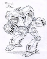 Battle Cobra mech sketch by Mecha-Zone