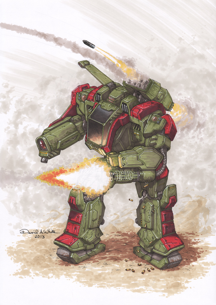 Imperator mech marker sketch by Mecha-Zone