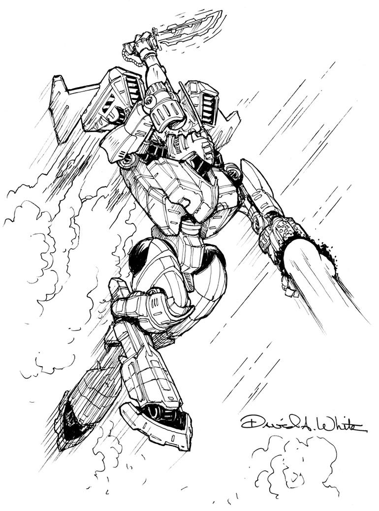 Dola Mech Sketch by Mecha-Zone