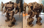 3D Printed mech assembled by Mecha-Zone