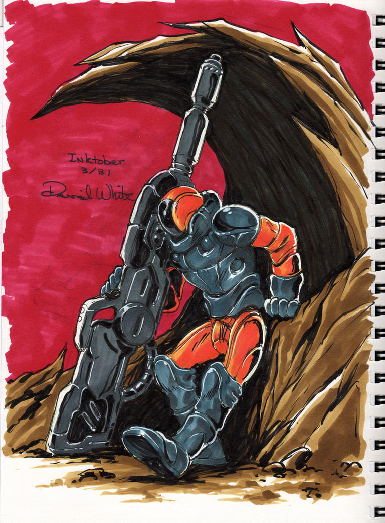 Inktober 2014 #3 Crayhunter by Mecha-Zone