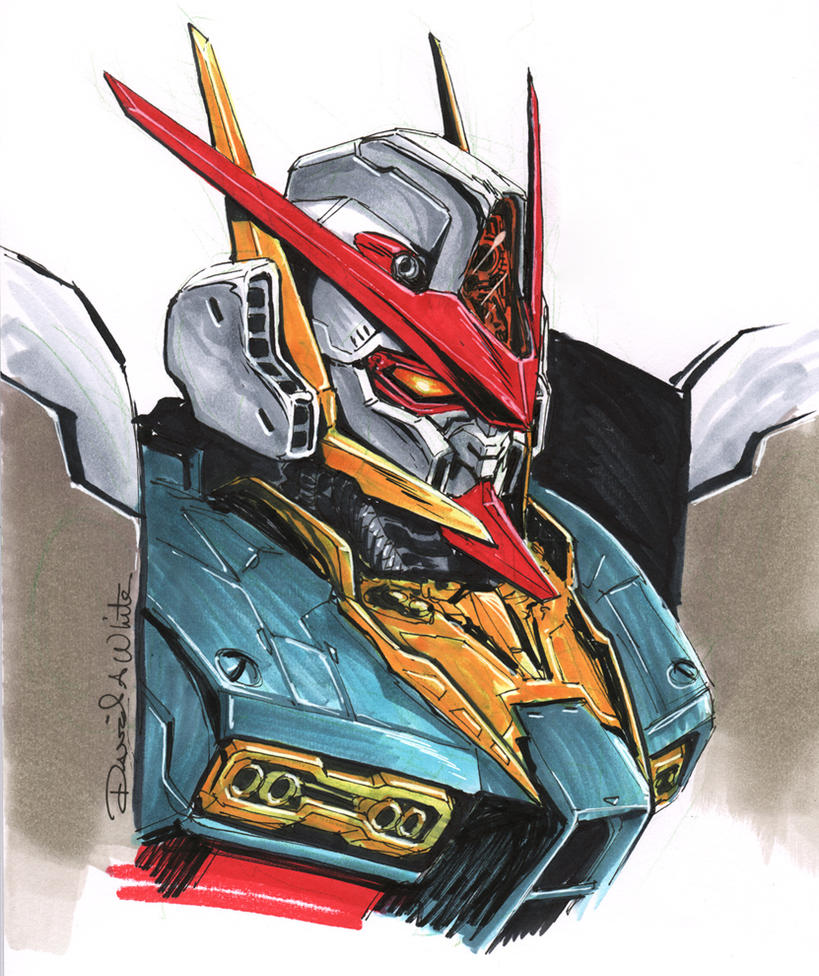 Original Gundam Head Sketch by Mecha-Zone