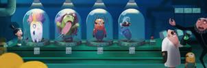 Dr. nefario experiments on the Minions