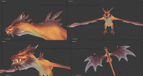 Wyvern - texture phase [WIP2] by ChristopherOnciu