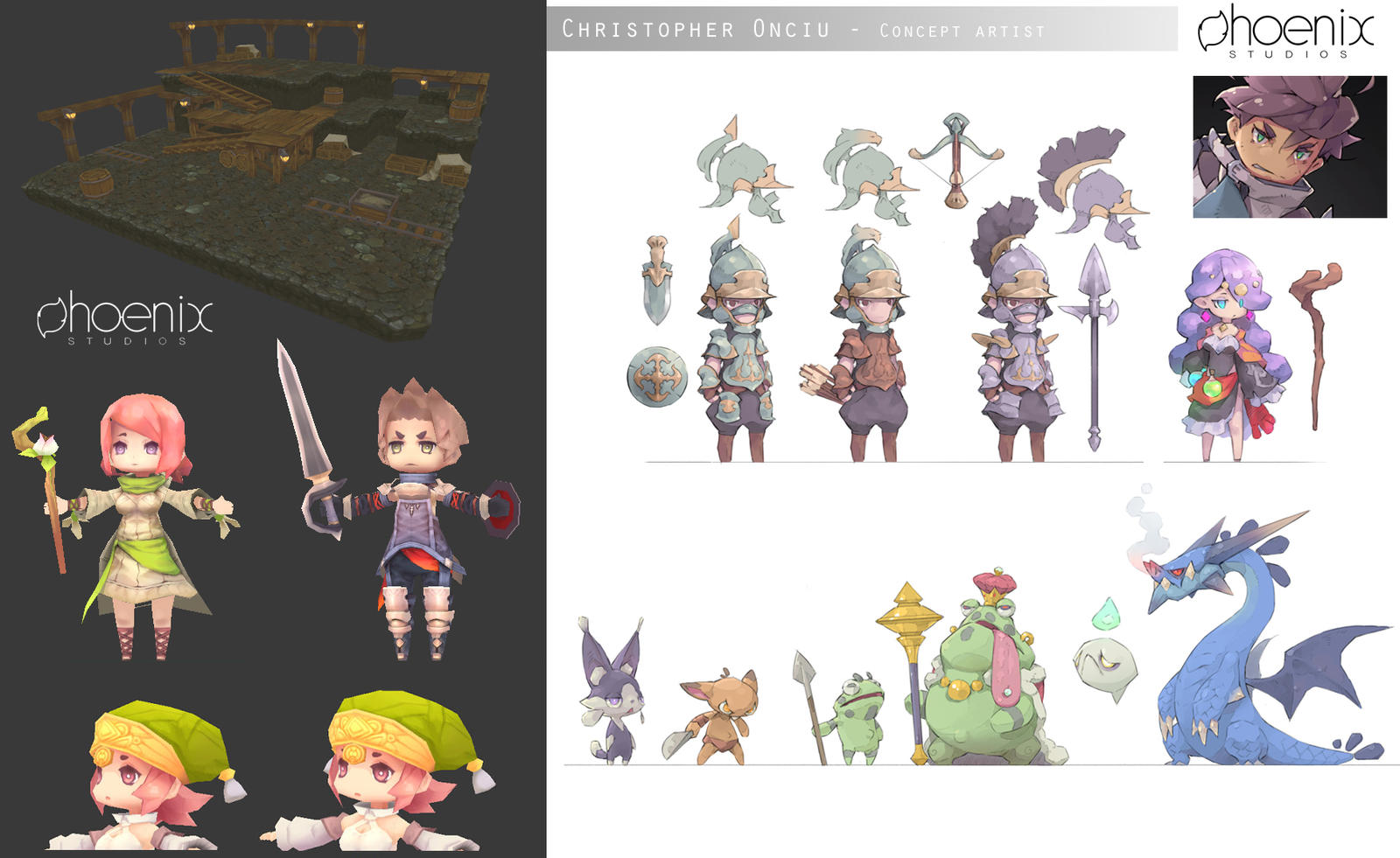 Concept Character Design Brief : Chibi concepts and d assets by christopheronciu on deviantart
