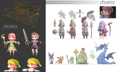 Chibi Concepts and 3D Assets by ChristopherOnciu