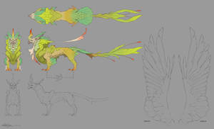 Creature Design - Jungle Griffin design sheet