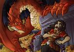 Hobbit: Smaug terror sketch color