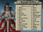 KnightTober prompt list