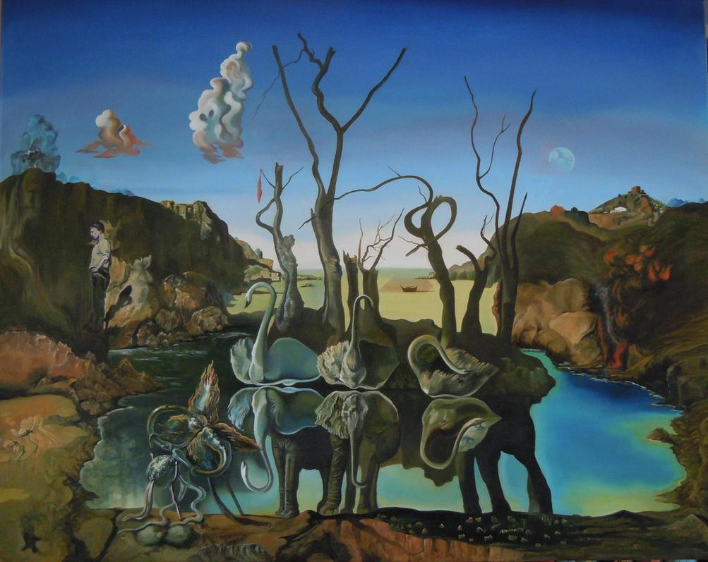 Salvador dali elephants wallpaper