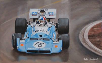 Chris Amon in a Matra at Monaco GP (Practice) 1972 by huckerback6