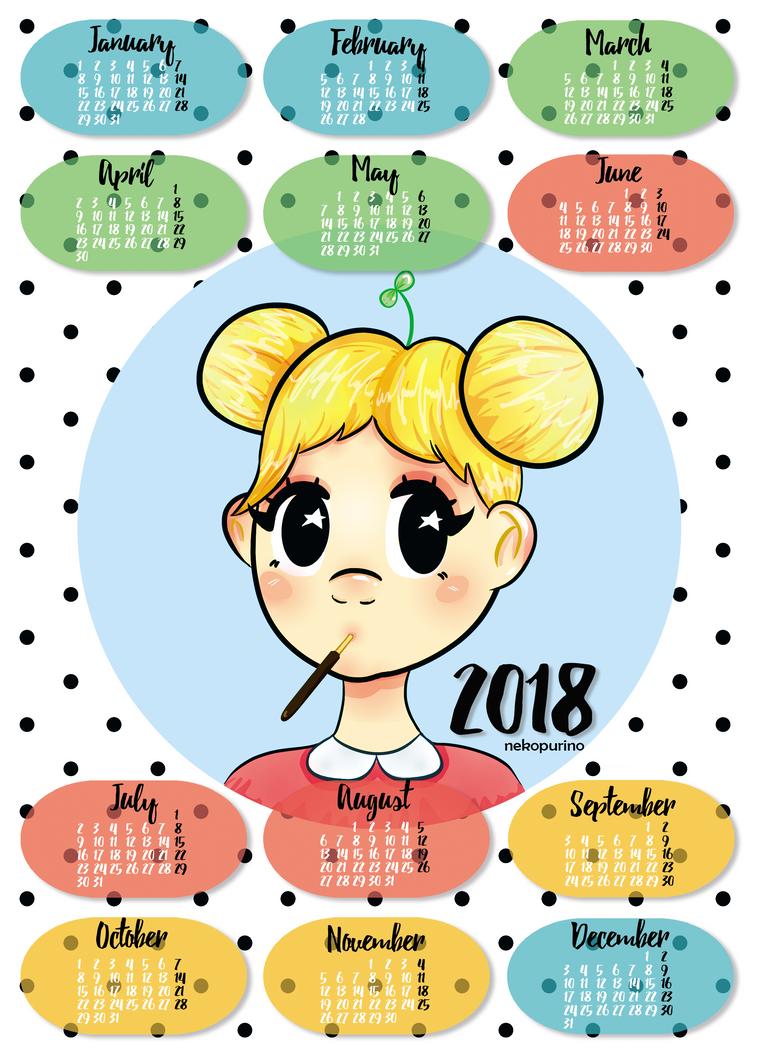 Calendar Art Contest : Nekopurino deviantart