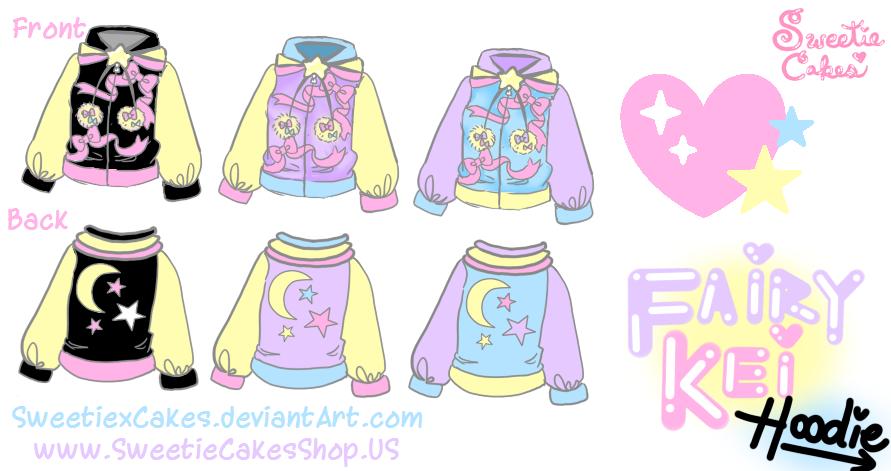 Fairy Kei Hoodie by SweetiexCakes