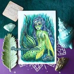 Safira - #mermay - Watercolor