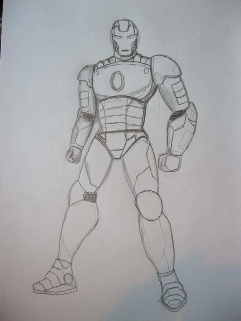 how to draw hulkbuster iron man