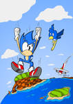 Sonic's free fall