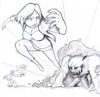Escaped Monster pencils by GeorgeRottkamp
