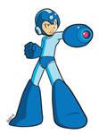 Mega Man standing