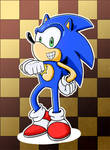 Sonic Checkerboard Glory by GeorgeRottkamp