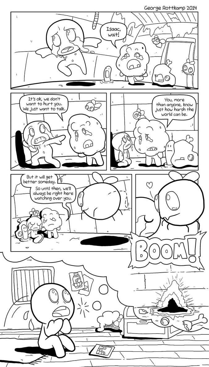 Binding of Isaac: Comic Tribute inks by GeorgeRottkamp