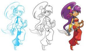 Pirate Shantae process by GeorgeRottkamp