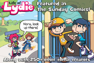 Life of Lydie featured in The Sunday Comics!