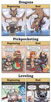 DORKLY: Skyrim Beginning vs End