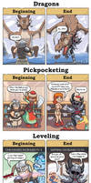 DORKLY: Skyrim Beginning vs End