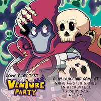 Come Play Test the VENTURE PARTY: CARD GAME again! by GeorgeRottkamp