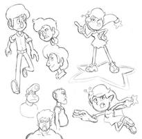Misc Character Sketches from 7/14/16 by GeorgeRottkamp