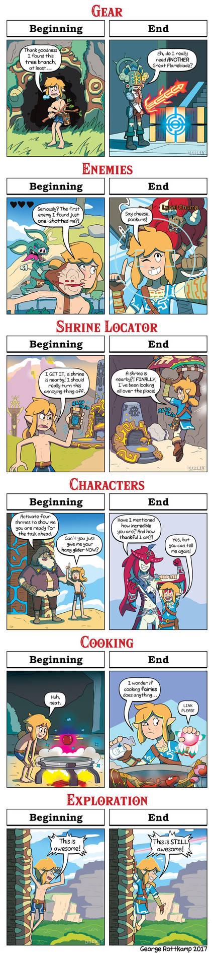 DORKLY: Breath of the Wild - Beginning VS. End