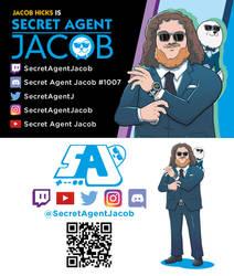 Twitch Rebranding Commission - Secret Agent Jacob