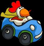 Chicken stole Robotnik's cape by Metal-Skotty