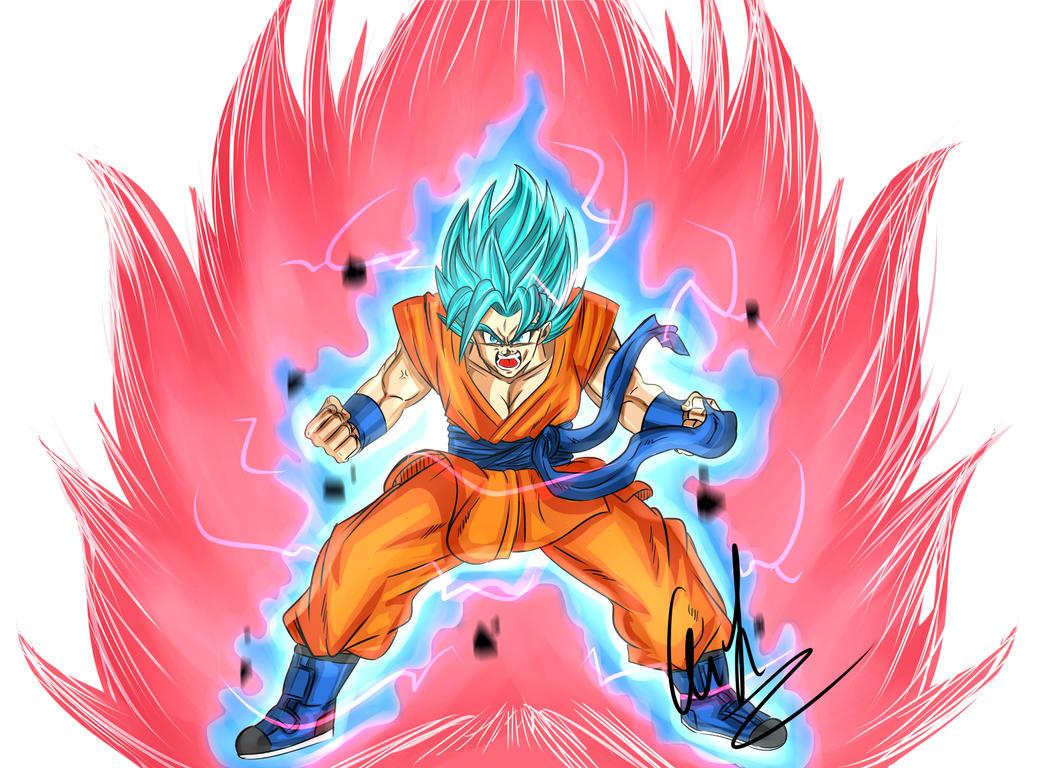 DBS: Son Goku Super Saiyan Blue Kaio-ken by Dark-Crawler on DeviantArt