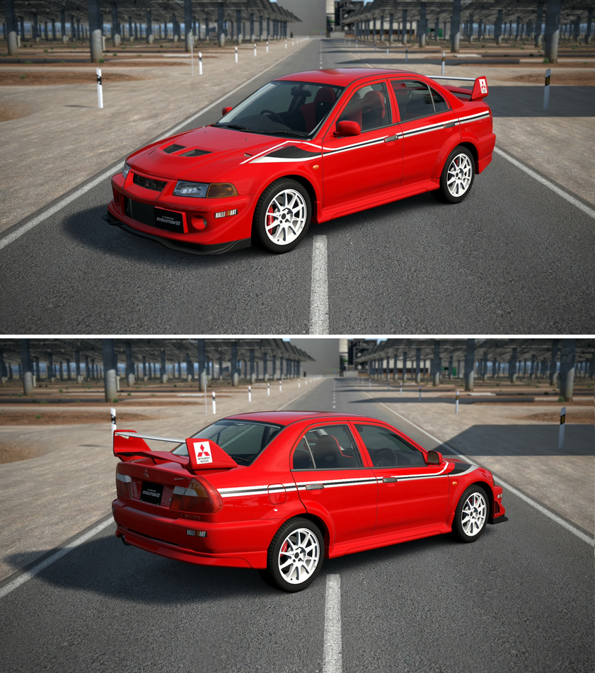 Amazing Mitsubishi Lancer Sport Car Wallpaper Hd Picture: Mitsubishi Lancer Evolution VI GSR T.M. EDITION... By GT6
