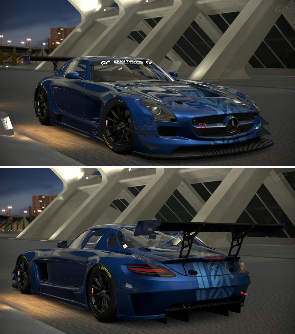 Mercedes benz sls amg gt3 15th anniversary edit by gt6 garage on deviantart - Garage mercedes montargis ...
