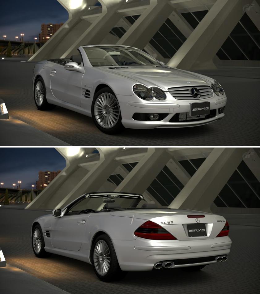 Mercedes benz sl 55 amg r230 39 02 by gt6 garage on deviantart for Mercedes benz garages