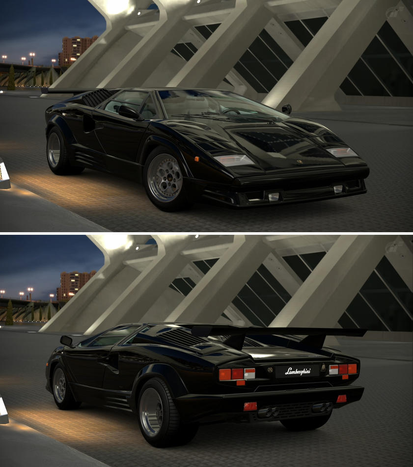 Lamborghini Countach 25th Anniversary 88 By Gt6 Garage On Deviantart