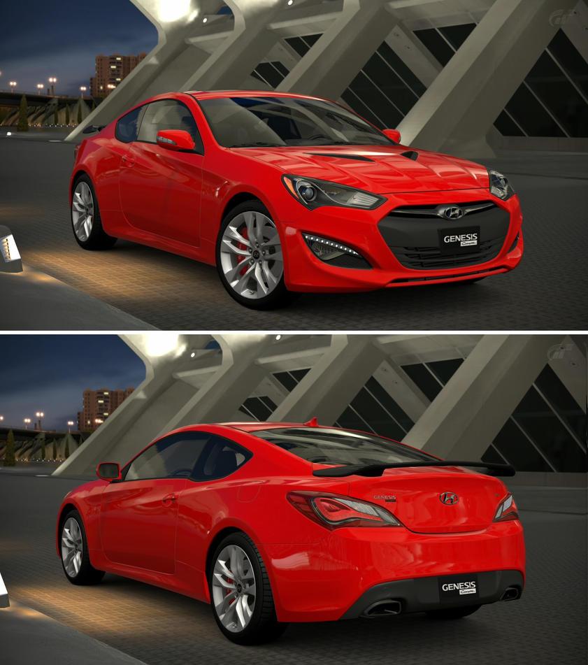 Hyundai Genesis Price Range: Hyundai Genesis Coupe 3.8 Track '13 By GT6-Garage On