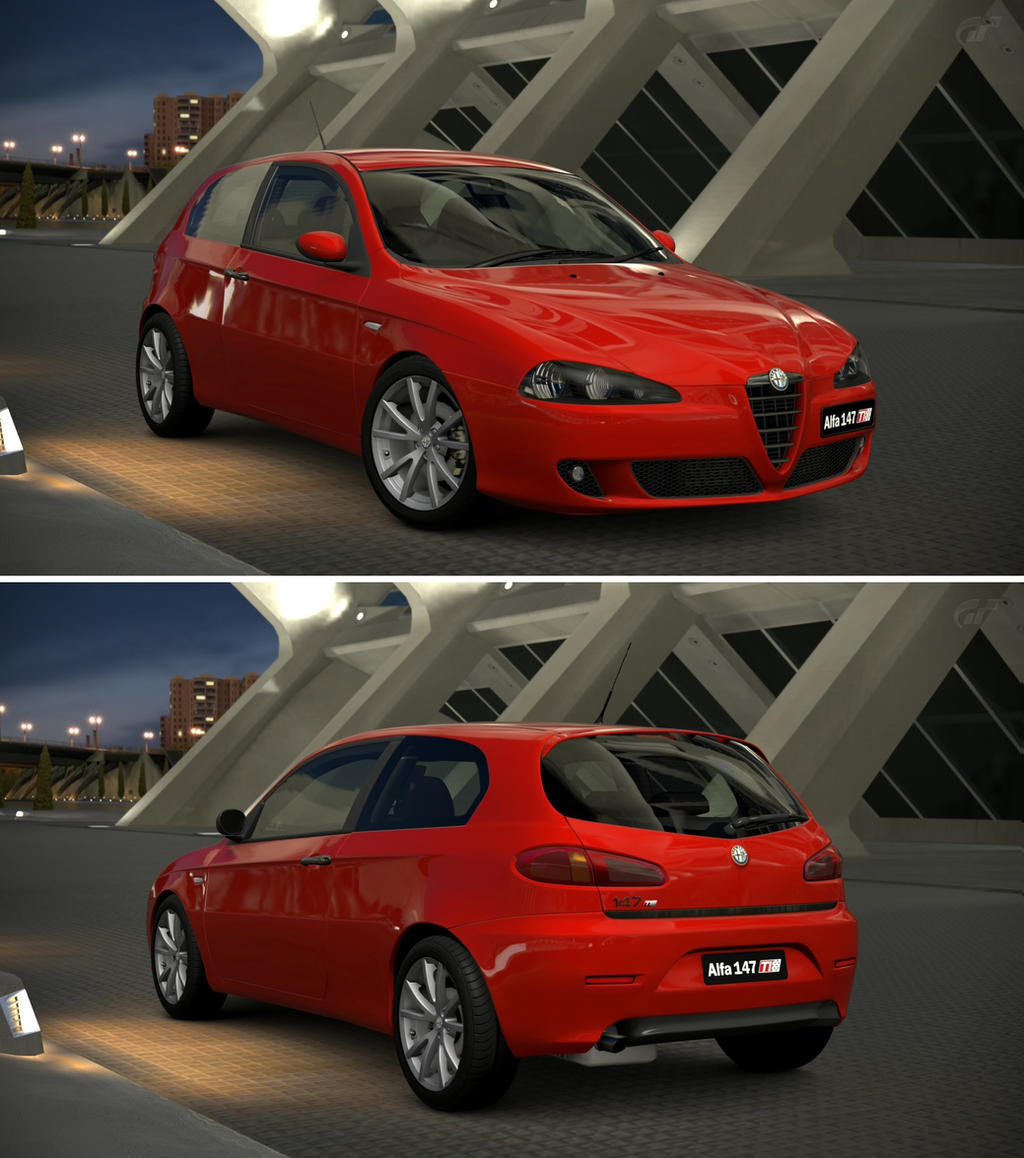 alfa romeo 147 ti 2 0 twin spark 39 06 by gt6 garage on deviantart. Black Bedroom Furniture Sets. Home Design Ideas