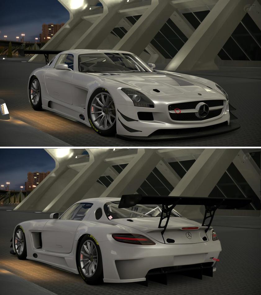 Mercedes benz sls amg gt3 39 11 by gt6 garage on deviantart for Mercedes benz sls amg gt3 price